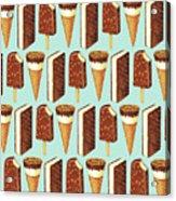 Ice Cream Novelties Pattern Acrylic Print