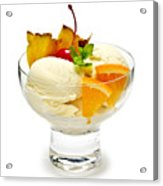 Ice Cream With Fruit Acrylic Print