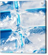 Ice Cubes Acrylic Print by Carlos Caetano