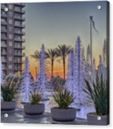 Ice Cycles At Sunset Acrylic Print