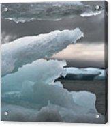 Ice Drama Acrylic Print by Elisabeth Van Eyken
