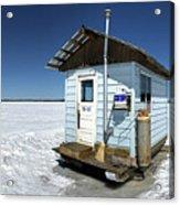 Ice Fishing Shack Acrylic Print