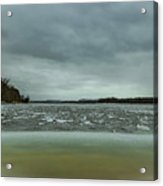 Ice Flow Mississippi River Acrylic Print