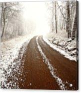 Ice Fog In Cypress Hills Provincial Park Of Saskatchewan Acrylic Print
