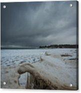 Ice Formations At Cawaja Beach Acrylic Print