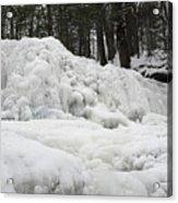 Ice Formations At Garwin Falls Acrylic Print