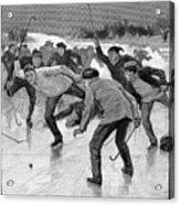 Ice Hockey, 1898 Acrylic Print by Granger