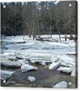 Ice Jam On The Isinglass River Barrington Nh Acrylic Print