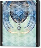 Ice Layered Effect And Framed Acrylic Print