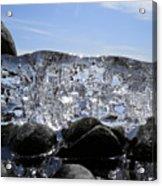 Ice On Rocks 3 Acrylic Print