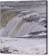 Ice Over The Falls Acrylic Print