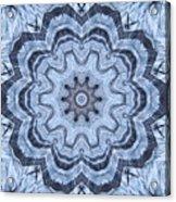 Ice Patterns Snowflake Acrylic Print