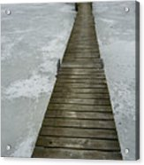 Ice Pier Acrylic Print