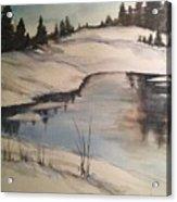 Ice Pond Acrylic Print