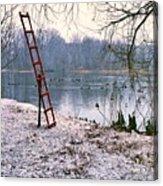 Ice Rescue Ladder  Acrylic Print