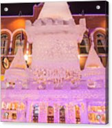 The Annual Ice Sculpting Festival In The Colorado Rockies, The Castle With A Parapet Acrylic Print