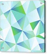 Ice Shards Abstract Geometric Angles Pattern Acrylic Print
