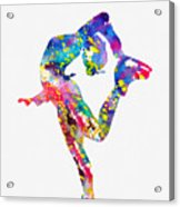Ice Skater-colorful Acrylic Print