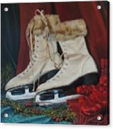 Ice Skates And Mittens Acrylic Print