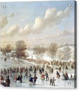 Ice Skating, 1865 Acrylic Print