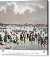 Ice Skating, C1859 Acrylic Print