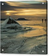 Ice Trail Hikers Acrylic Print