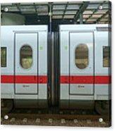 Ice Train At Berlin Station Acrylic Print
