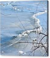 Ice Waves Acrylic Print