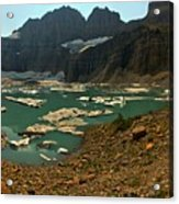 Icebergs Below Grinnell Glacier Acrylic Print