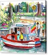Icecream Boat In York Acrylic Print