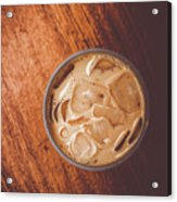 Iced Coffee Beverage On Copy Space Acrylic Print