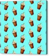 Iced Coffee To Go Pattern Acrylic Print