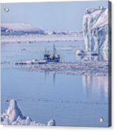 Icefjord In Greenland Acrylic Print