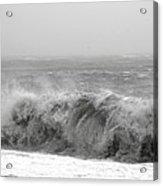 Iceland Black Sand Beach Wave Five Acrylic Print