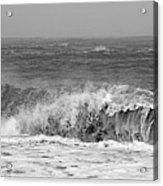 Iceland Black Sand Beach Wave One  Acrylic Print