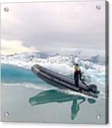 Iceland Glacier Lagoon Acrylic Print by Ambika Jhunjhunwala