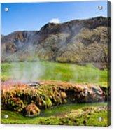 Iceland Landscape Panorama Wonderful Colors Acrylic Print