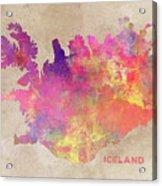 Iceland Map Acrylic Print