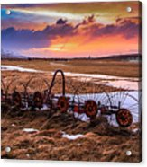 Iceland Sunset # 1 Acrylic Print