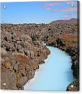 Iceland Tranquil Blue Lagoon  Acrylic Print