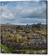 Icelands Mossy Volcanic Rock Acrylic Print