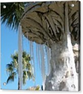 Icicles In A Palm Filled Sky Number 1 Acrylic Print