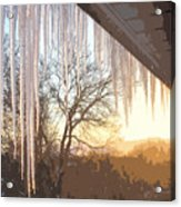 Icicles One Acrylic Print