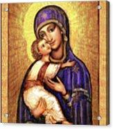Icon Madonna And Infant Jesus Acrylic Print