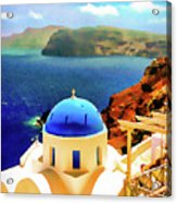 Iconic Anastaseos Oia Santorini Greece Acrylic Print