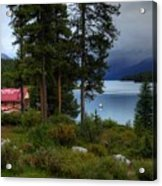 Iconic Maligne Lake And Boat House II Acrylic Print