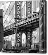 Iconic Manhattan Bw Acrylic Print