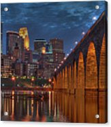 Iconic Minneapolis Stone Arch Bridge Acrylic Print