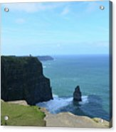 Iconic Needle Rock Formation And The Cliff's Of Moher Acrylic Print