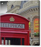 Iconic Postbox And Lyceum Theatre Acrylic Print